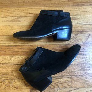 Madewell Ankle Boots size 10 Black Suede Booties